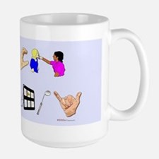 st blue rect Mug