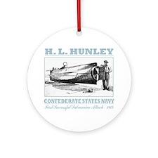 HL Hunley (B) Round Ornament