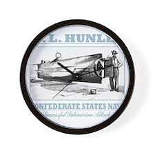 HL Hunley (B) Wall Clock