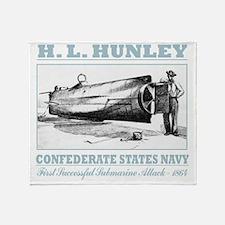 HL Hunley (B) Throw Blanket