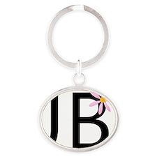 JBflower. Oval Keychain