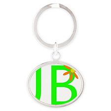 JBflower2. Oval Keychain