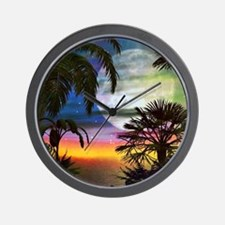 Tropical Nights Wall Clock