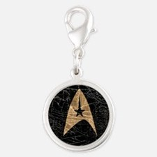 star-trek_distressed-symbol-b Silver Round Charm
