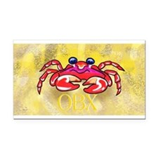crabby on yellow OBX M Rectangle Car Magnet