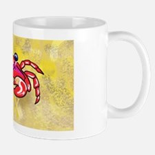 Crabby On Yellow OBX M Mugs