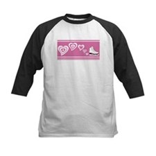Pink Hearts Ice Skate Tee