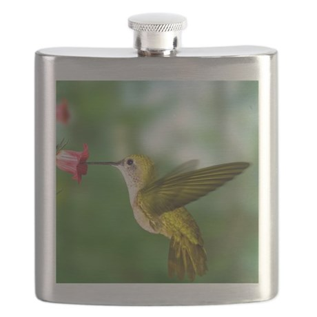 Hummingbird in flight Flask