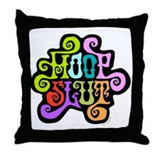 hoopslut60sfrontLT Throw Pillow