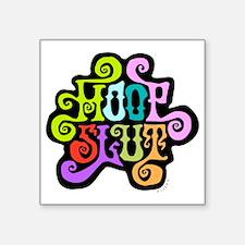 "hoopslut60sfrontLT Square Sticker 3"" x 3"""