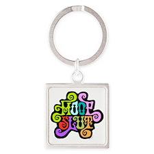 hoopslut60sfrontLT Square Keychain
