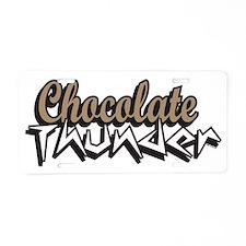 chocolate thunder Aluminum License Plate