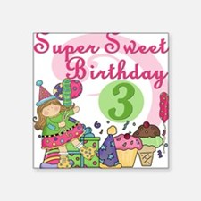 "ZXSUPERSWEET3 Square Sticker 3"" x 3"""