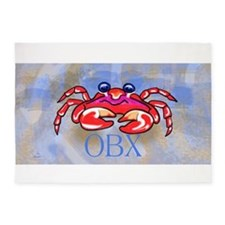 Crabby BLUE OBX 5'x7'Area Rug