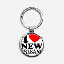 Love NO -button Round Keychain