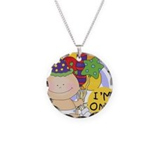 Baby Im One Necklace Circle Charm