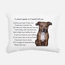 pitbullbig Rectangular Canvas Pillow