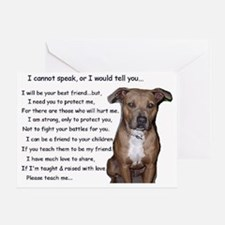 pitbullbig Greeting Card