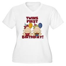 Twin Girls First  T-Shirt