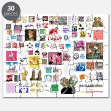 80 illusions small poster Puzzle