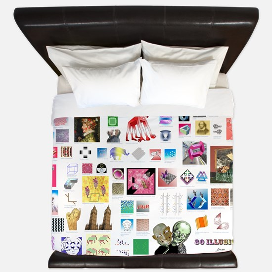 80 illusions small poster King Duvet