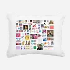 80 illusions small poste Rectangular Canvas Pillow