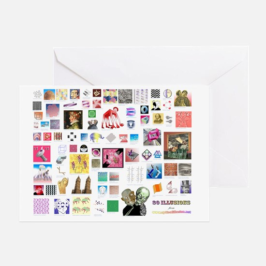 80 illusions small poster Greeting Card