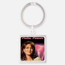 P-PalinPower1 Square Keychain