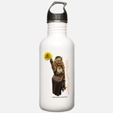 2-sunflower with text Water Bottle