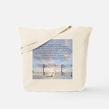 Grace Note Mousepad Tote Bag