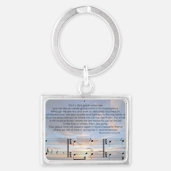 Grace Note with Sky Landscape Keychain