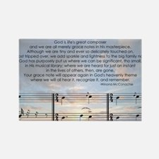 Grace Note with Sky Rectangle Magnet
