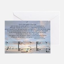 Grace Note with Sky Greeting Card
