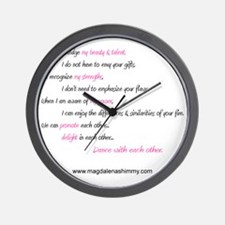dance with each other text Wall Clock