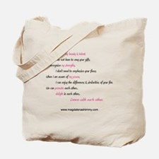 dance with each other text Tote Bag