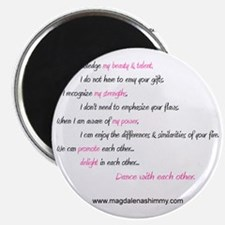 dance with each other text Magnet
