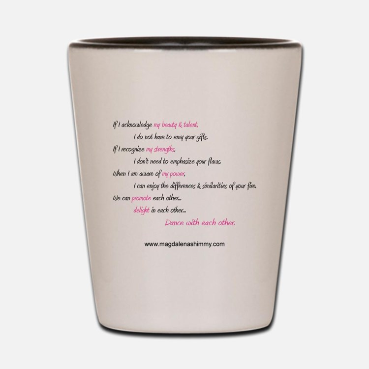 dance with each other text Shot Glass