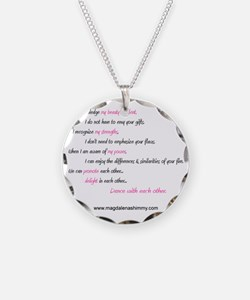 dance with each other text Necklace