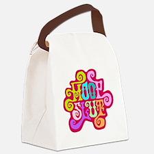 hoopslut60sfrontBLACK 3 Canvas Lunch Bag