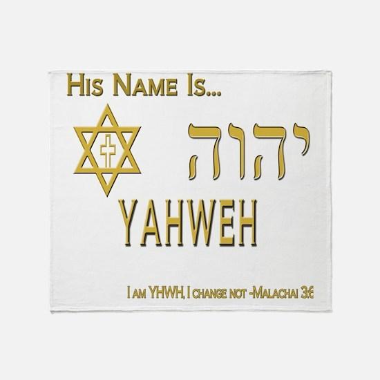 YHWH Shirt 2 Throw Blanket