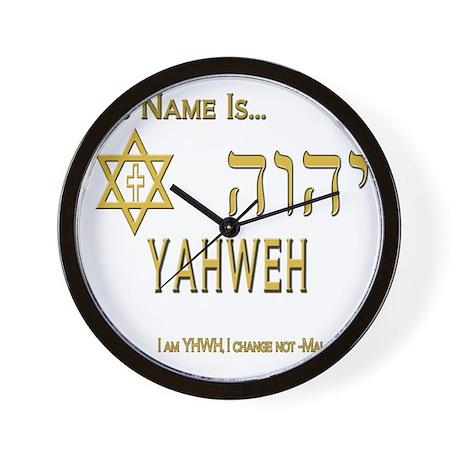 YHWH Shirt 2 Wall Clock