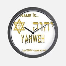 YHWH Shirt 2 Wall Clock