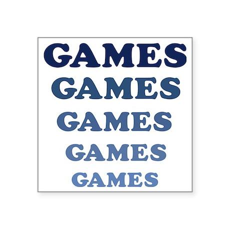 """Games Square Sticker 3"""" x 3"""""""