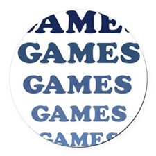 Games Round Car Magnet