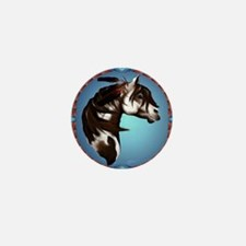 Feathered Paint Horse-Circle Mini Button