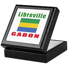 Libreville Gabon Designs Keepsake Box
