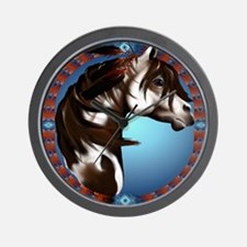 Feathered Paint Horse_pillow Wall Clock