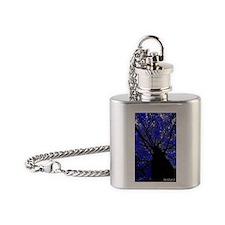 midnight tree copy Flask Necklace