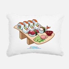 Kawaii-Cali-Sushi-Cafe-T Rectangular Canvas Pillow