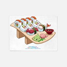 Kawaii-Cali-Sushi-Cafe-Trans 5'x7'Area Rug